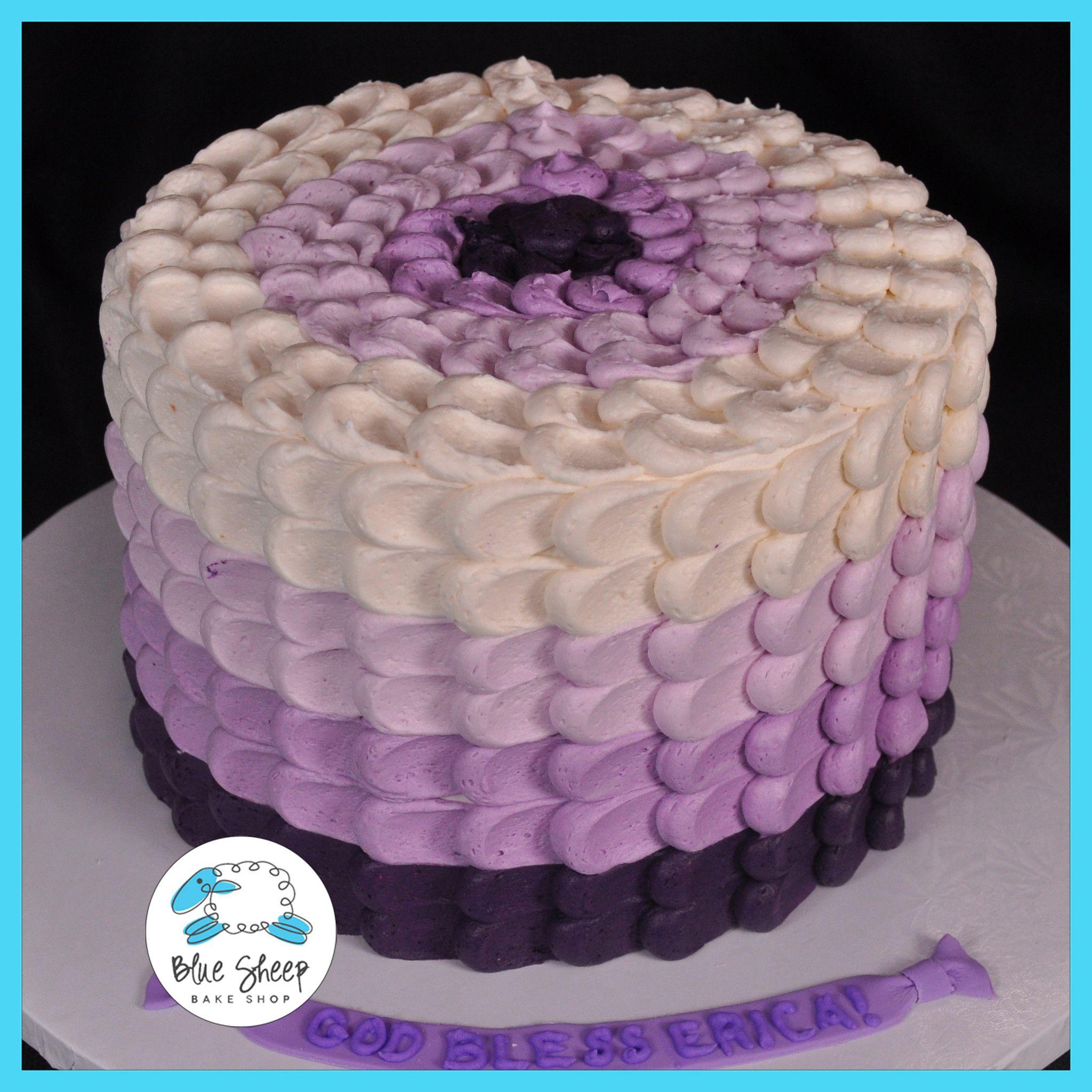 Ombre Purple Buttercream Birthday Cake Nj