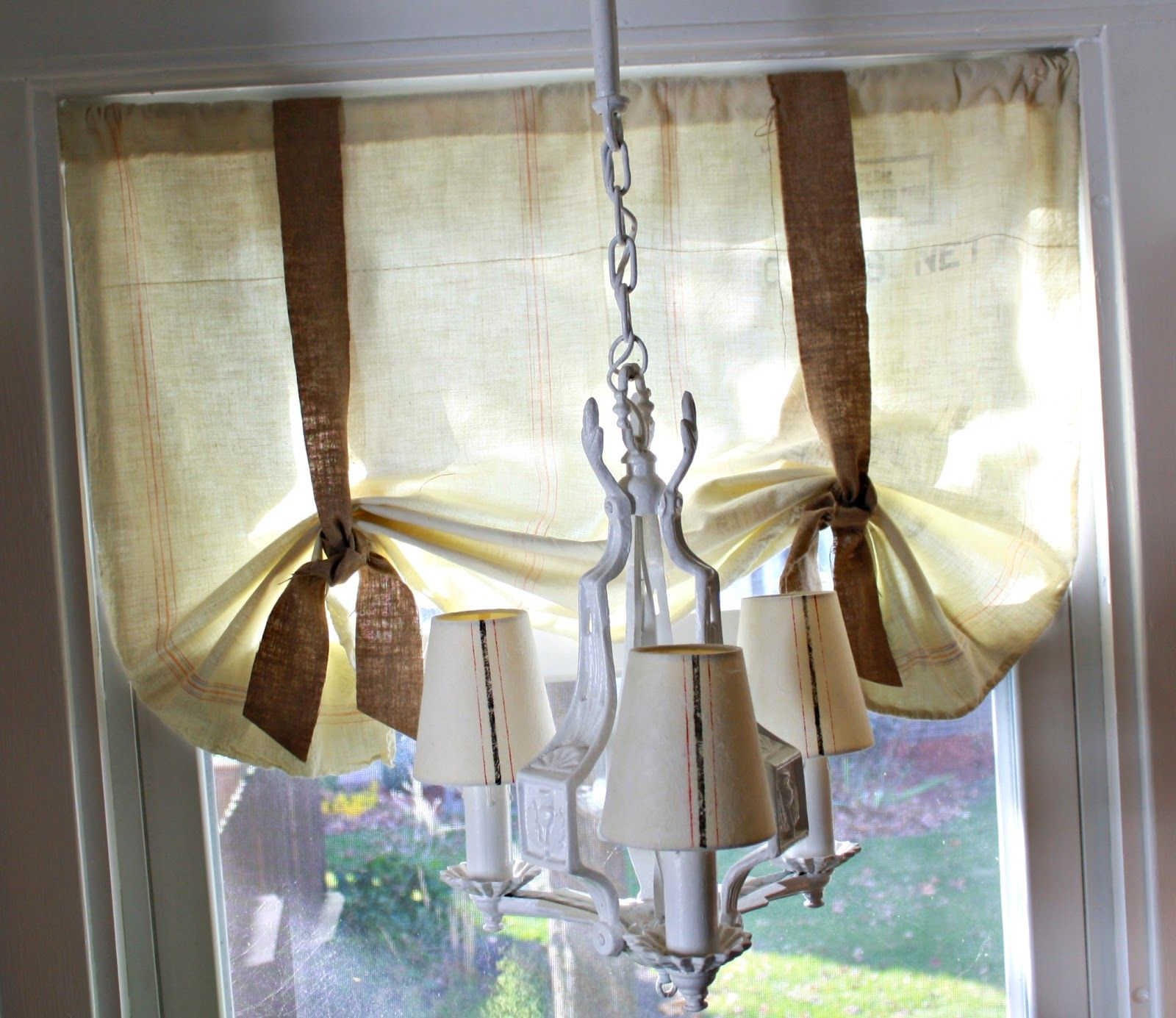 DIY Feed Sack Curtains