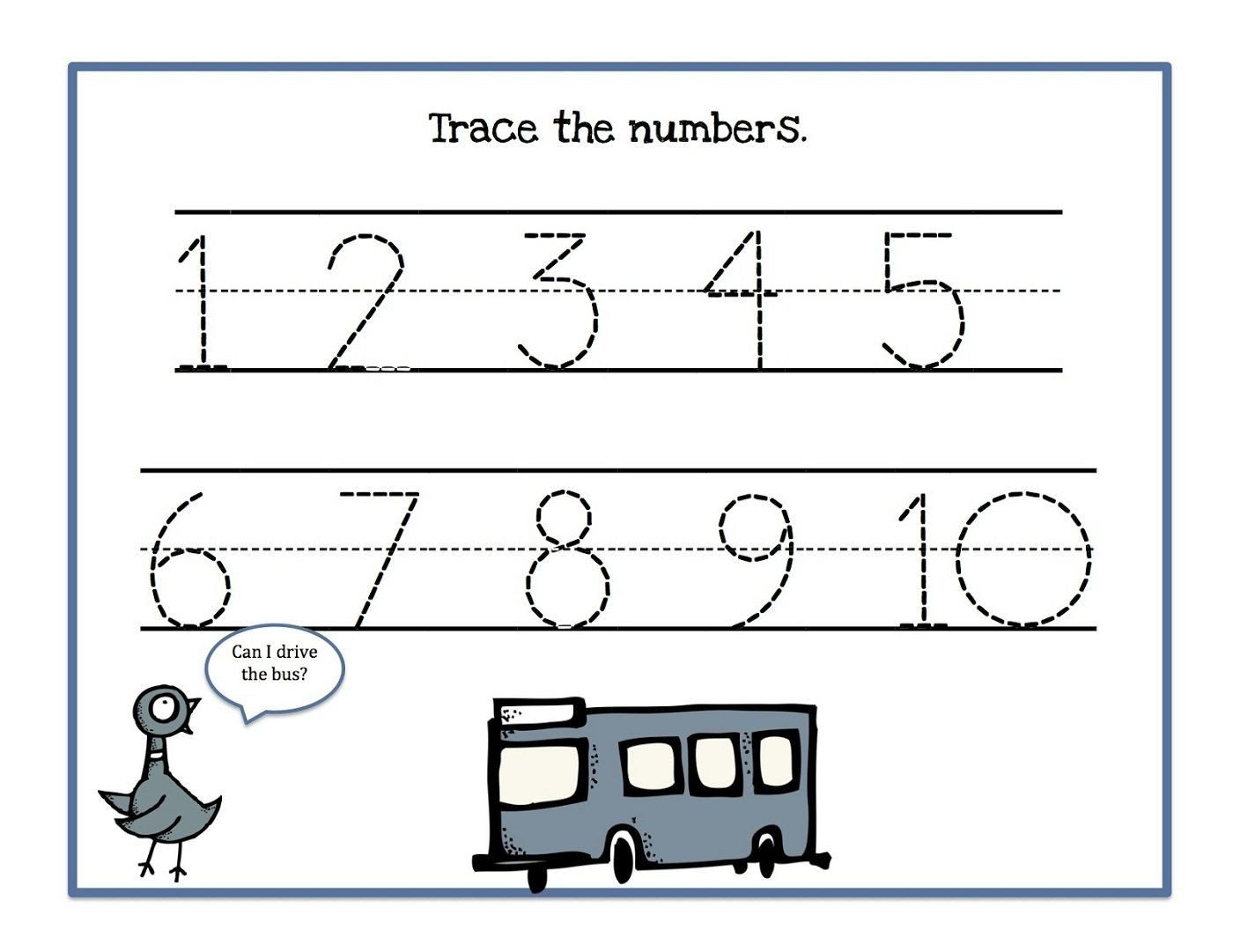 Number Tracing Worksheet 1 10 Count And Trace Numbers 1 10