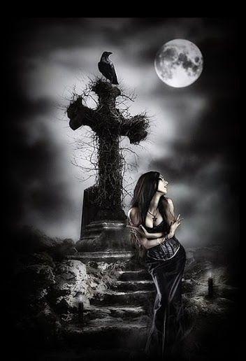 Resultado de imagen de postales goticas de la muerte