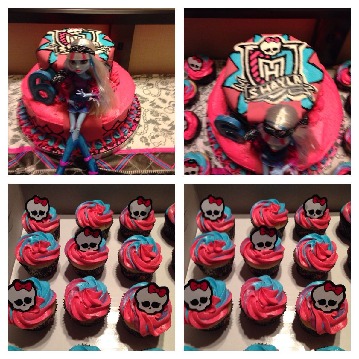 Pleasant Monster High Birthday Cake Cupcakes Monster High Birthday Cake Funny Birthday Cards Online Alyptdamsfinfo