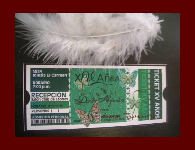 """XV Años Pase Personal """"Ticket"""""""
