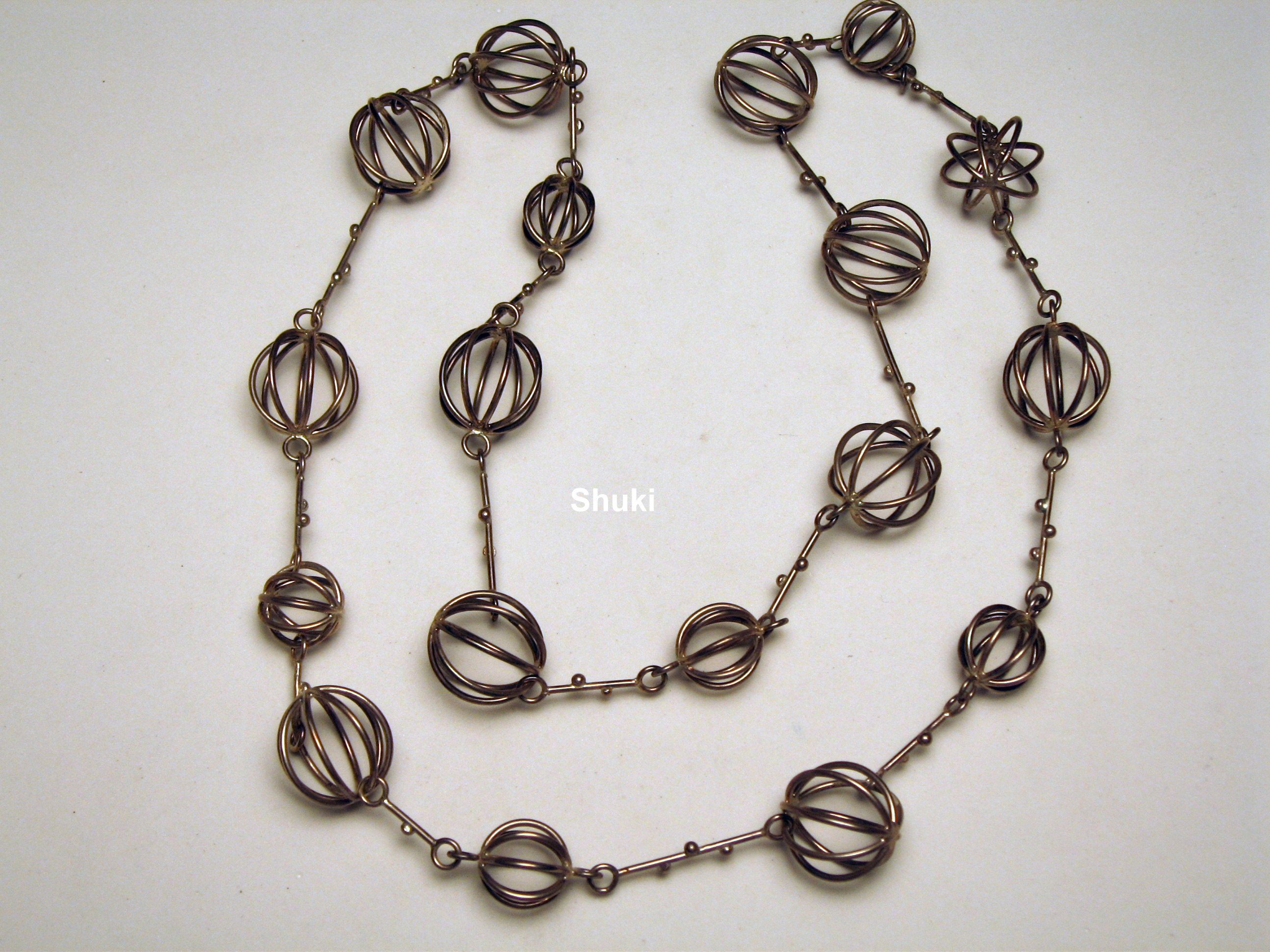 Necklace. 925 Silver wire 1.2 mm'