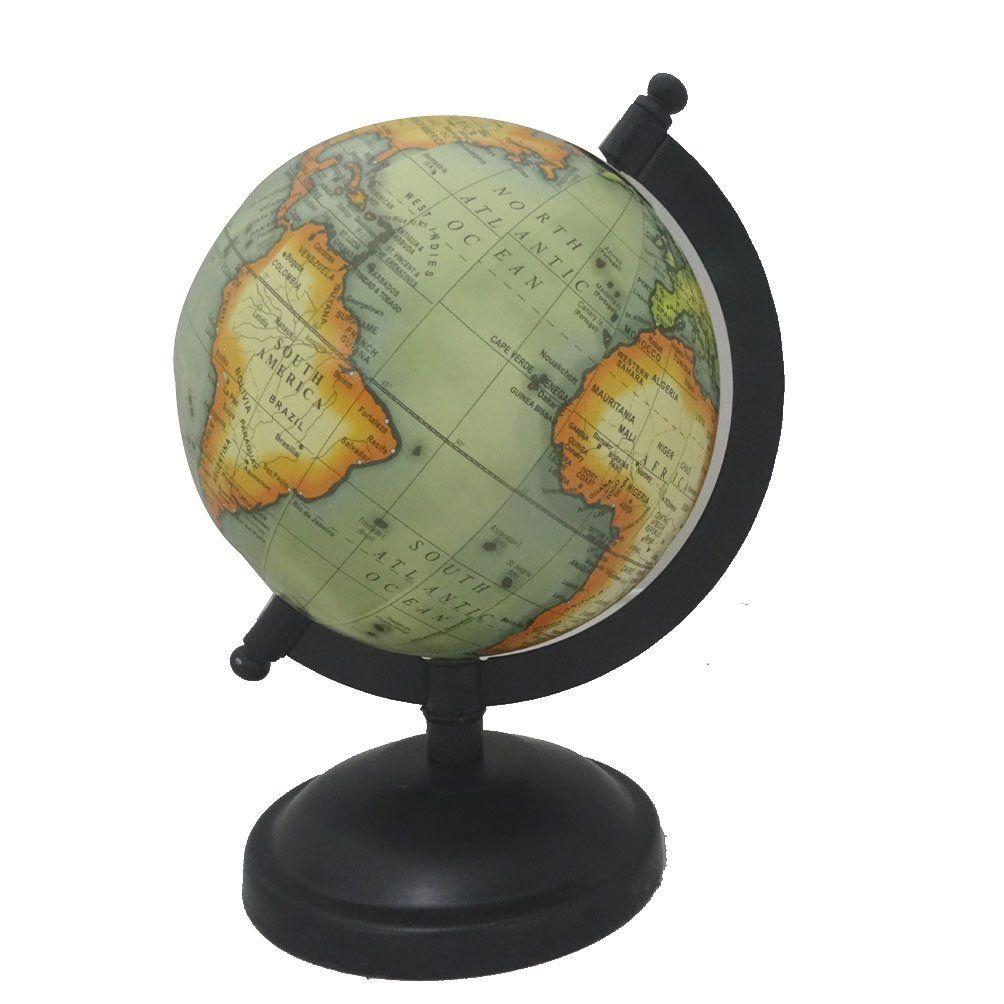 amazoncom indian handmade decorative world map globe green 5 plastic ball iron - Decorative Globe
