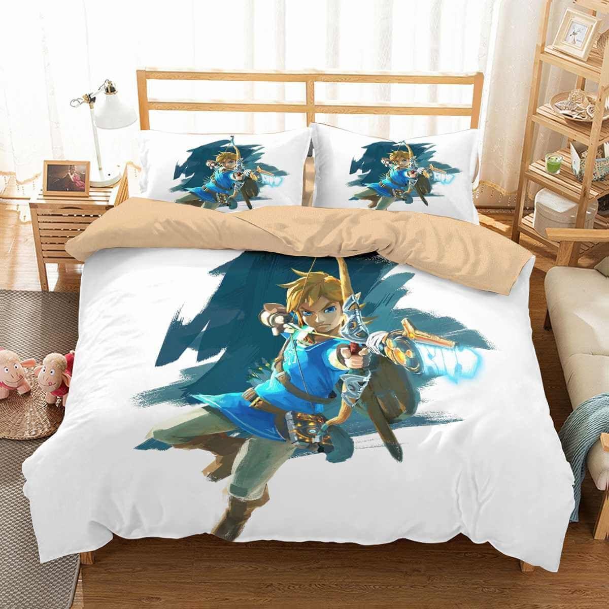 3d Customize The Legend Of Zelda Bedding Set Duvet Cover Set Bedroom Set Bedlinen Duvet Cover Sets Bedroom Set Bedding Sets