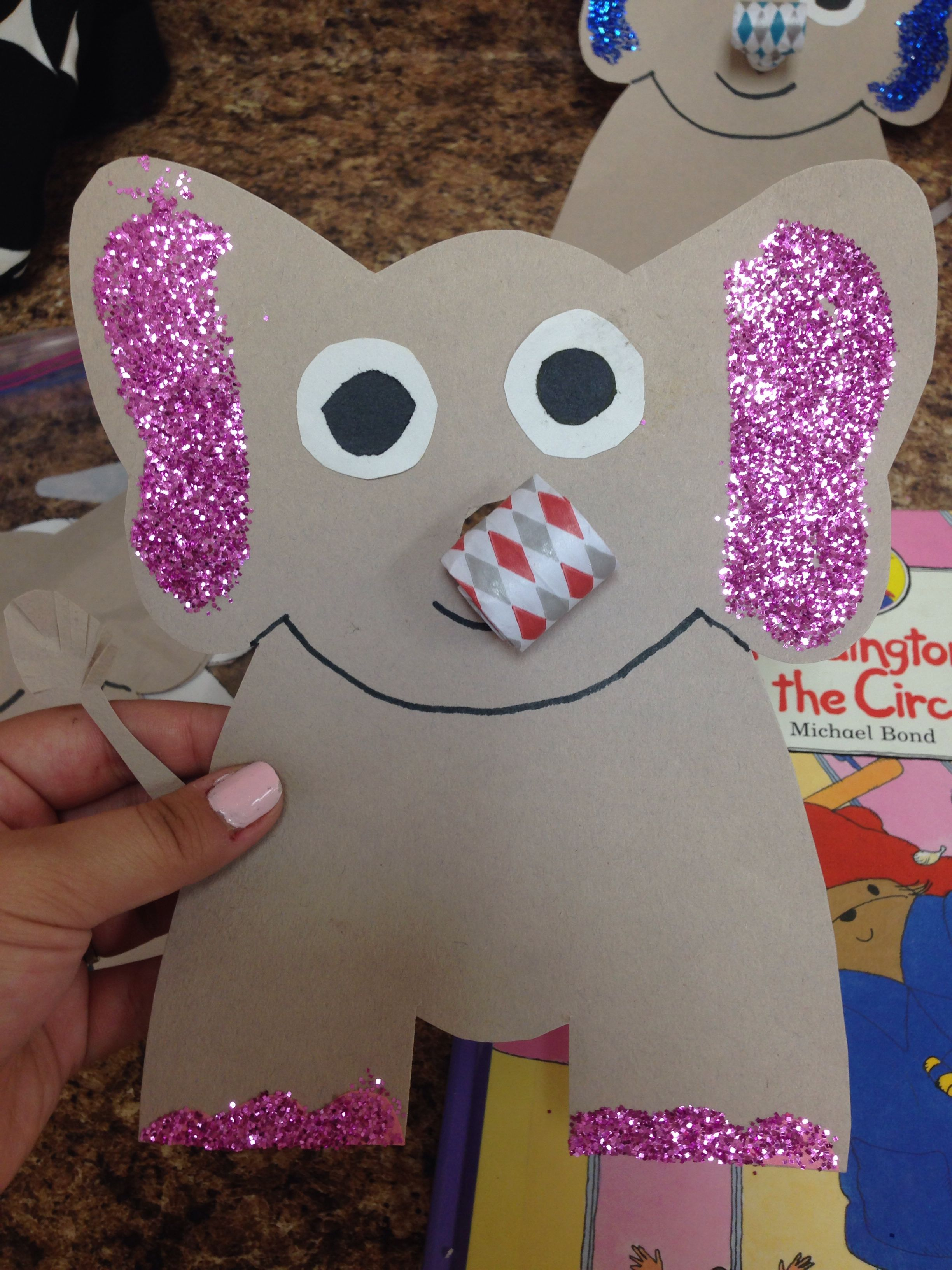 Circus Craft Elephant Kids Craft Ideas