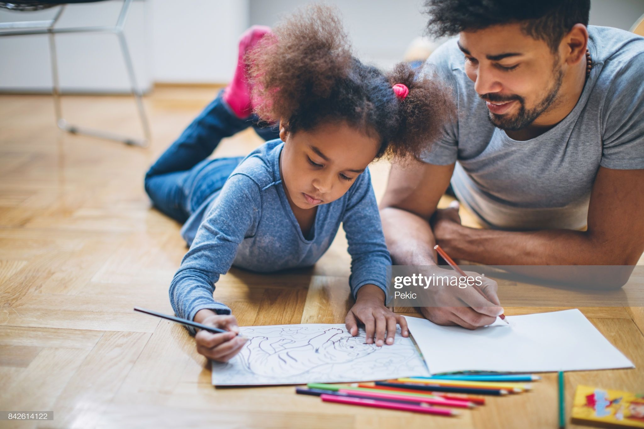 Young Black Family Having Fun At Home In With Images