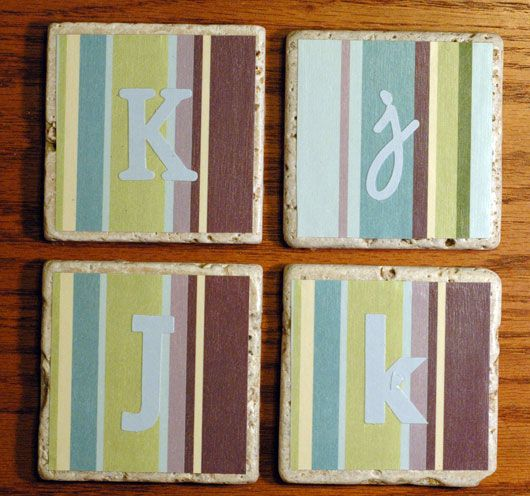 Love These Rustic Tile Coasters Package Of  At Home Depot Around