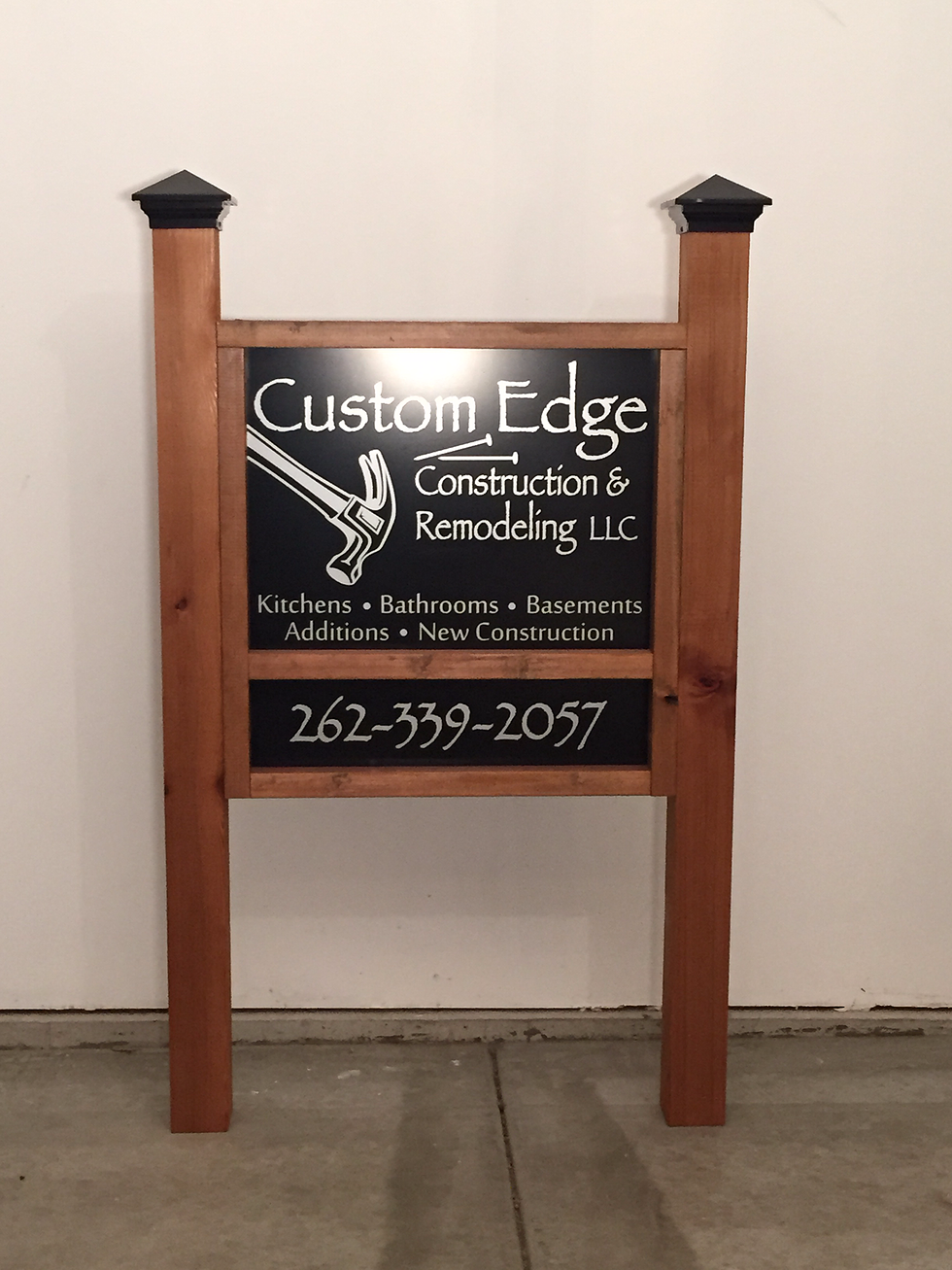 Custom Wooden Frame With Our Aluminum Signs Make For A