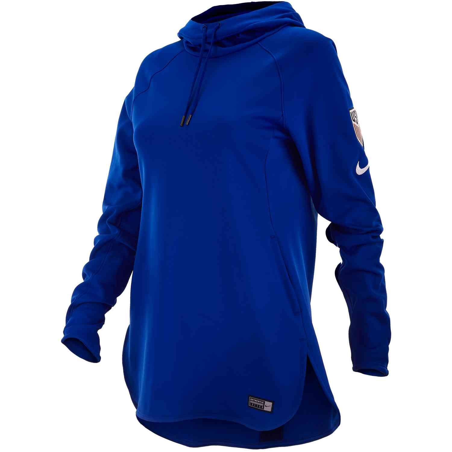 buying cheap newest new photos Womens Nike USWNT Hoodie – Bright Blue/Loyal Blue/White ...