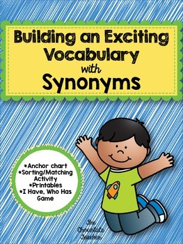 Synonyms Language Arts Vocabulary Synonym Activities Language Arts