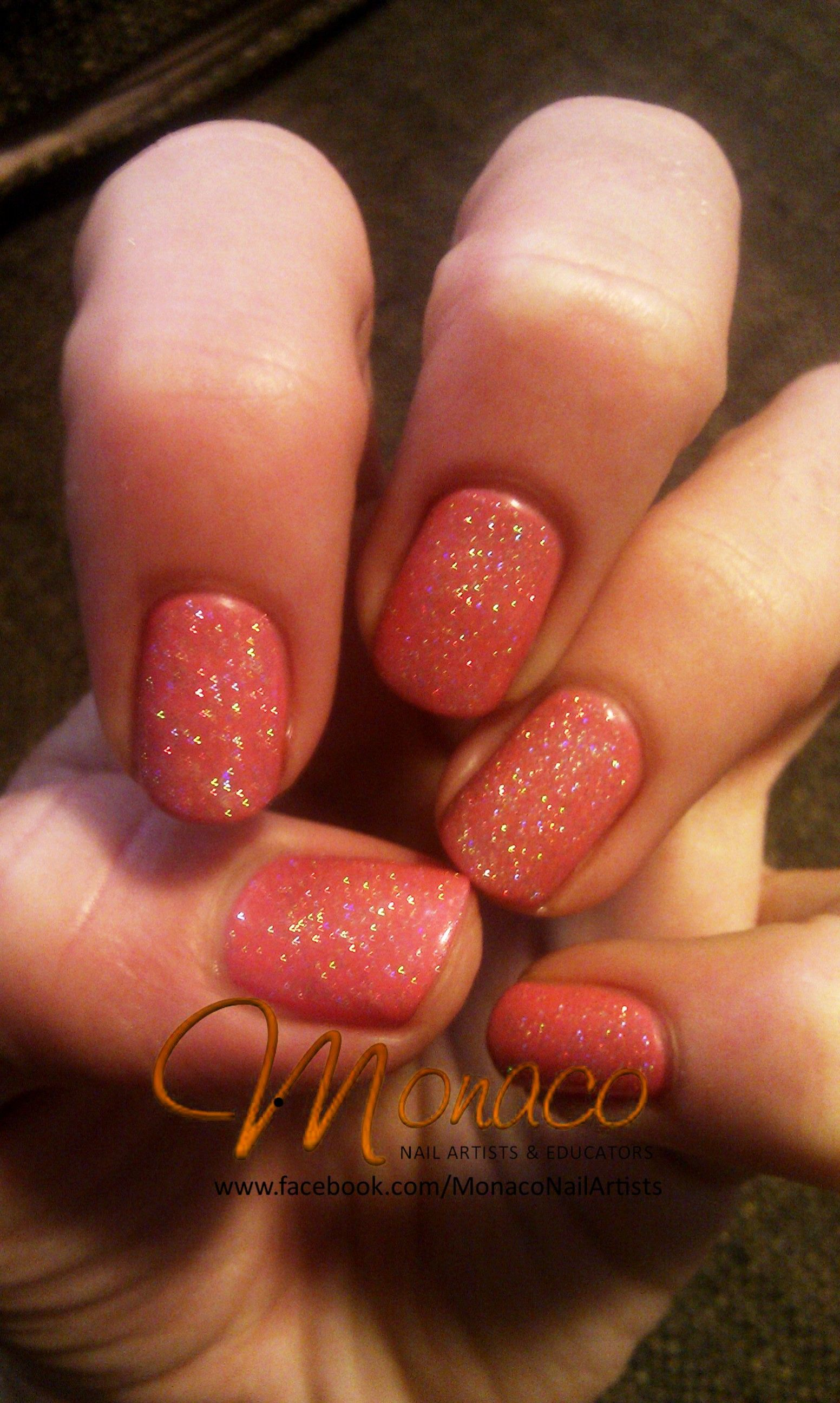 Cute Coral Manicure from