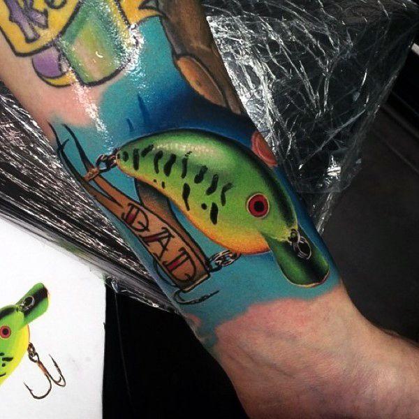 Fishing hook tattoos for men