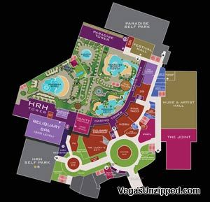 Hard Rock Las Vegas Property Map Las vegas Pinterest Hard rock