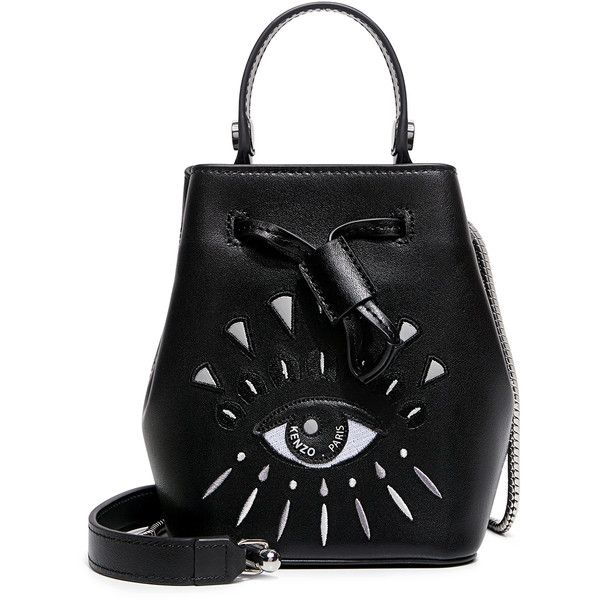 bed636629be Kenzo - Iconic Eye mini bucket bag ($370) ❤ liked on Polyvore featuring bags,  handbags, shoulder bags, mini tote handbag, tote handbags, mini bucket bag,  ...