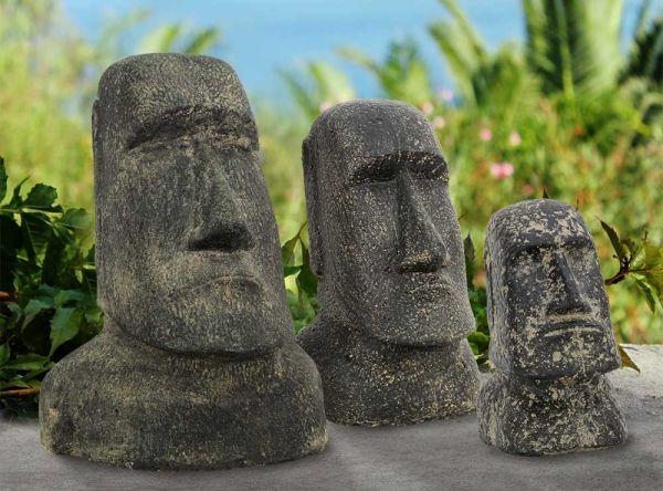 Der moai kopf gilt bis heute als einer der gr ten mythen for Asia garten deko
