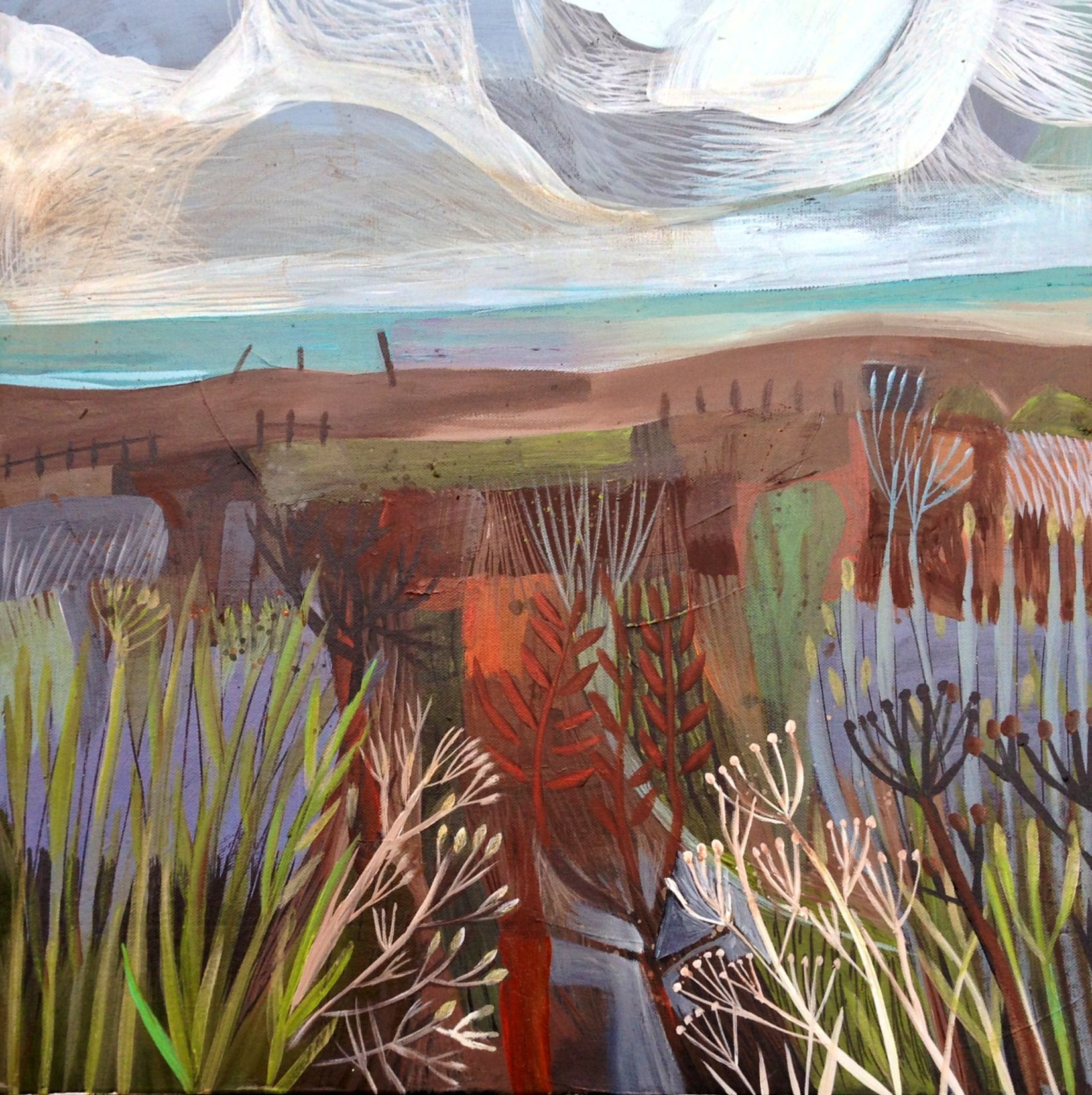 Este MacLeod sea breeze painting. Acrylic on board ...