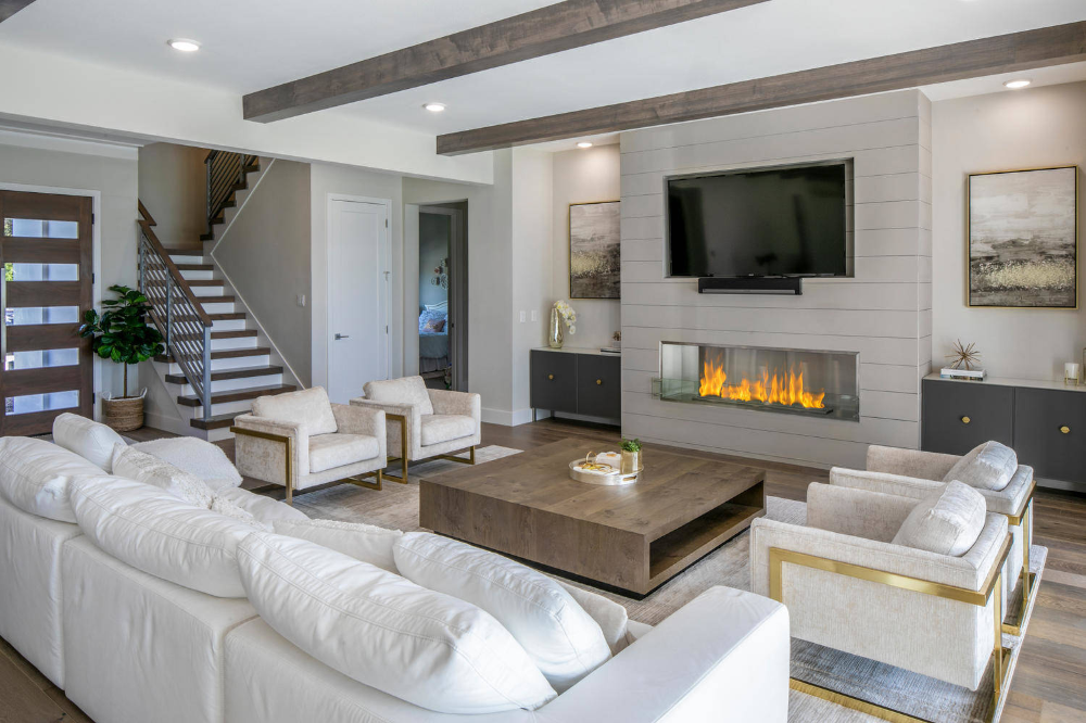 Waterside Retreat On Lake Magdalene Tampa Fl Modern Living Room Tampa By Deb In 2020 Modern Casual Living Room Living Room Decor Gray Living Room Decor Modern
