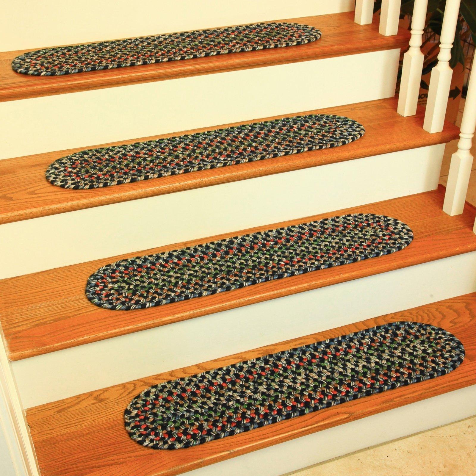 Best Rhody Rug Kelley Stair Tread Navy In 2019 Stair Tread 400 x 300
