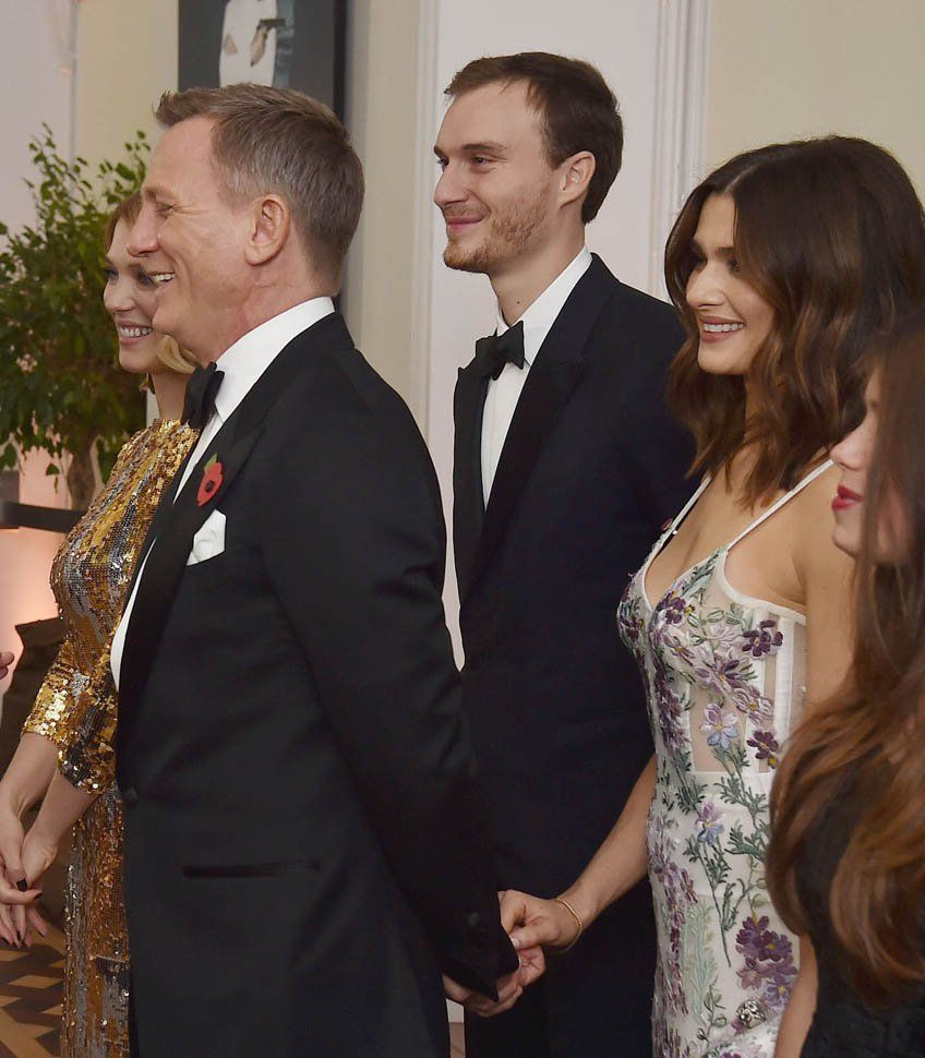 Laineygossipdaniel Craig And Rachel Weisz Greet Prince William And