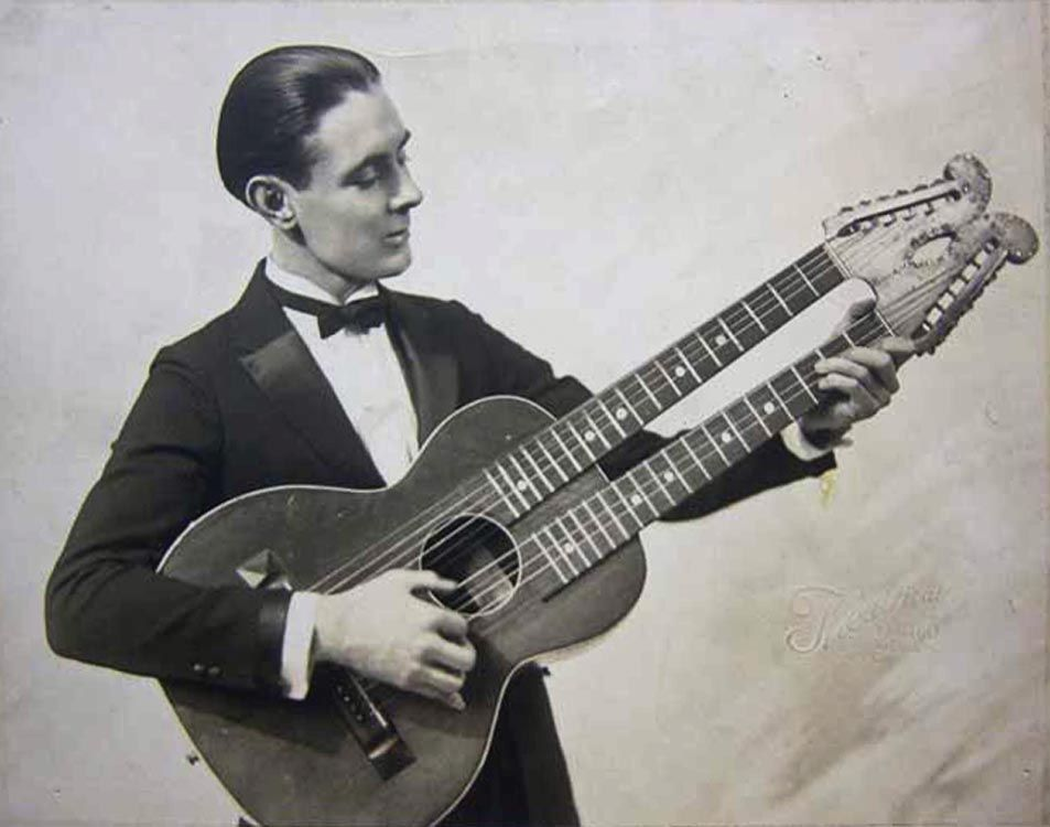 """1931.""""  Back is stamped """"Jack Penewell and his Twin-Six Guitar"""""""