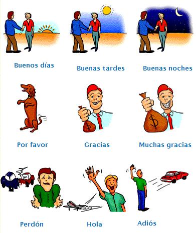 Saludar y agradecer en español