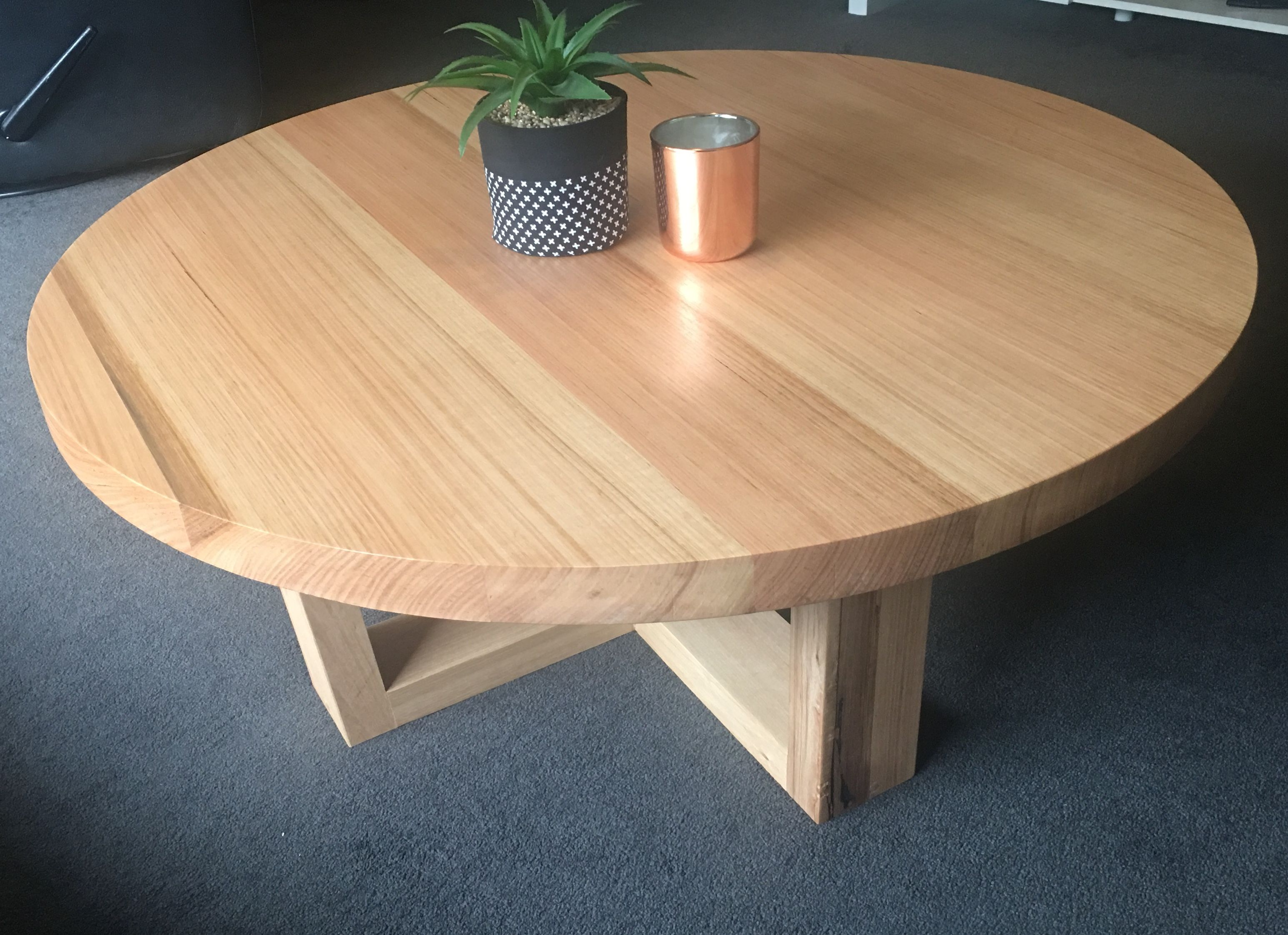 Vic Ash Round Coffee Table Coffee Table Oak Coffee Table Table