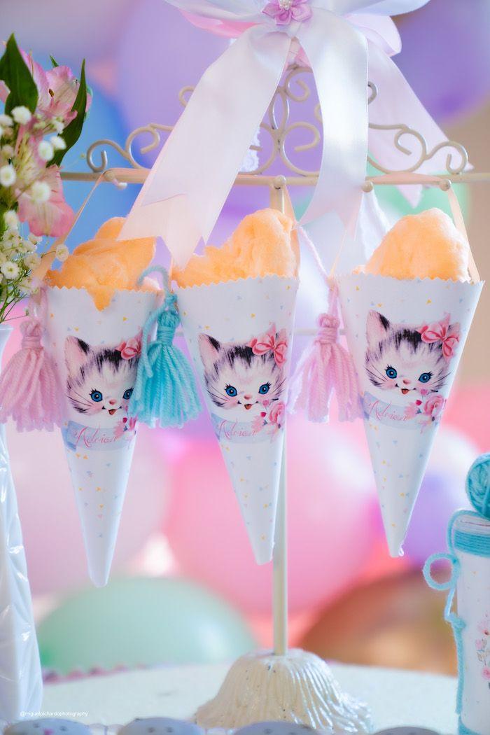 Vintage Pastel Kitten Birthday Party | Kara's Part