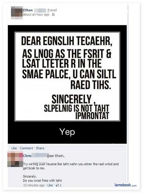 People Who Got Owned On Facebook Smosh Funny Facebook Status Facebook Likes