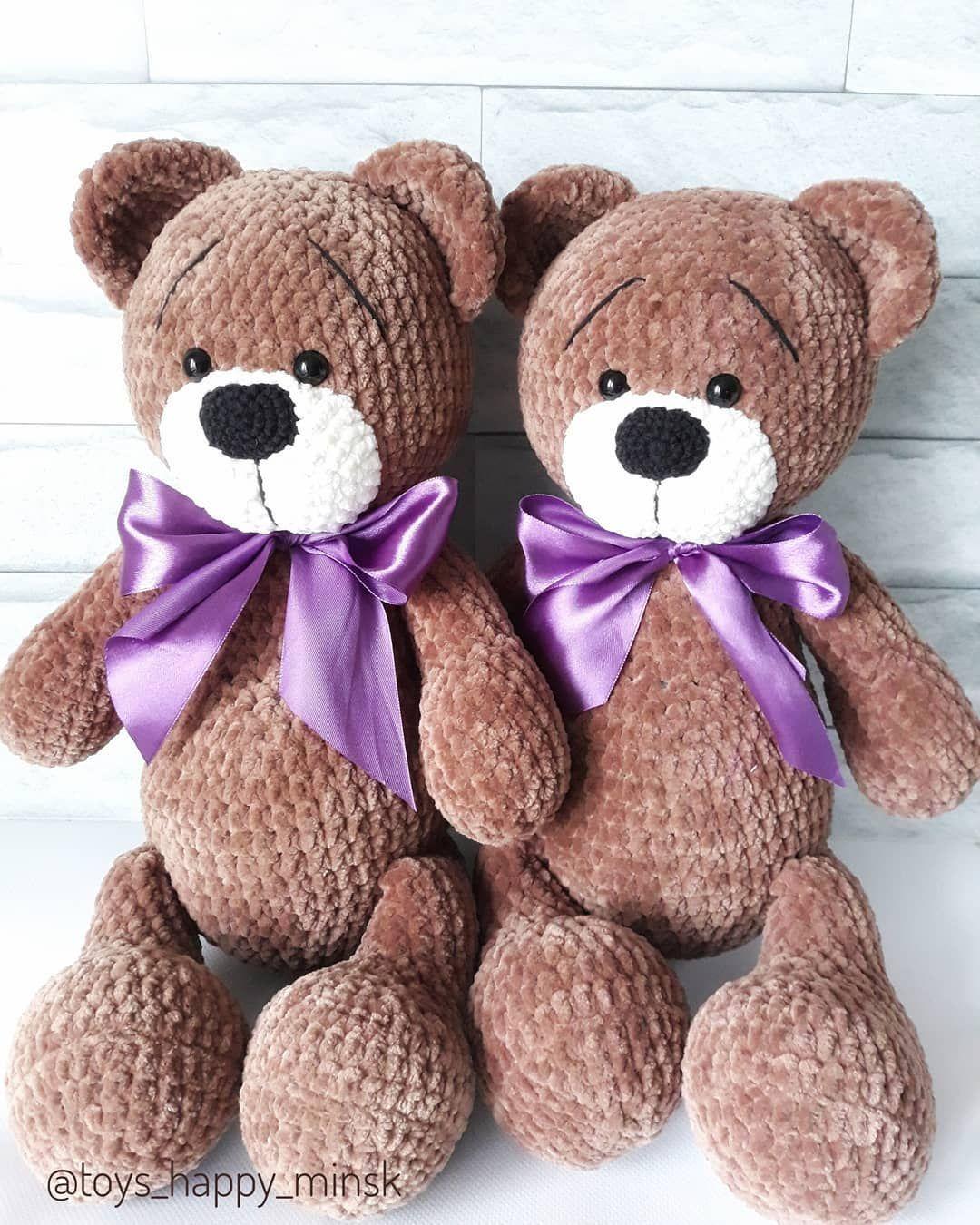 Amigurumi plush bear pattern #crochetbearpatterns