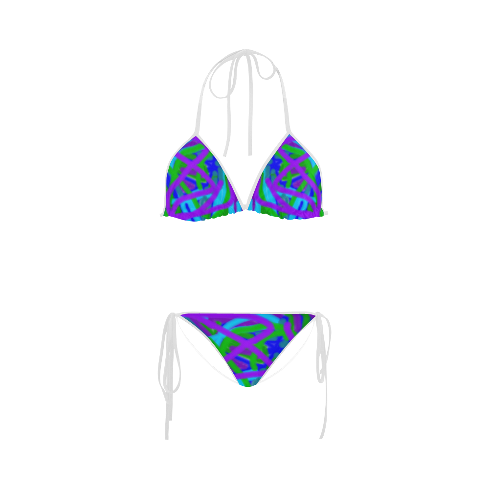 Peacock blues, greens and purples bikini Swimsuit by Khoncepts