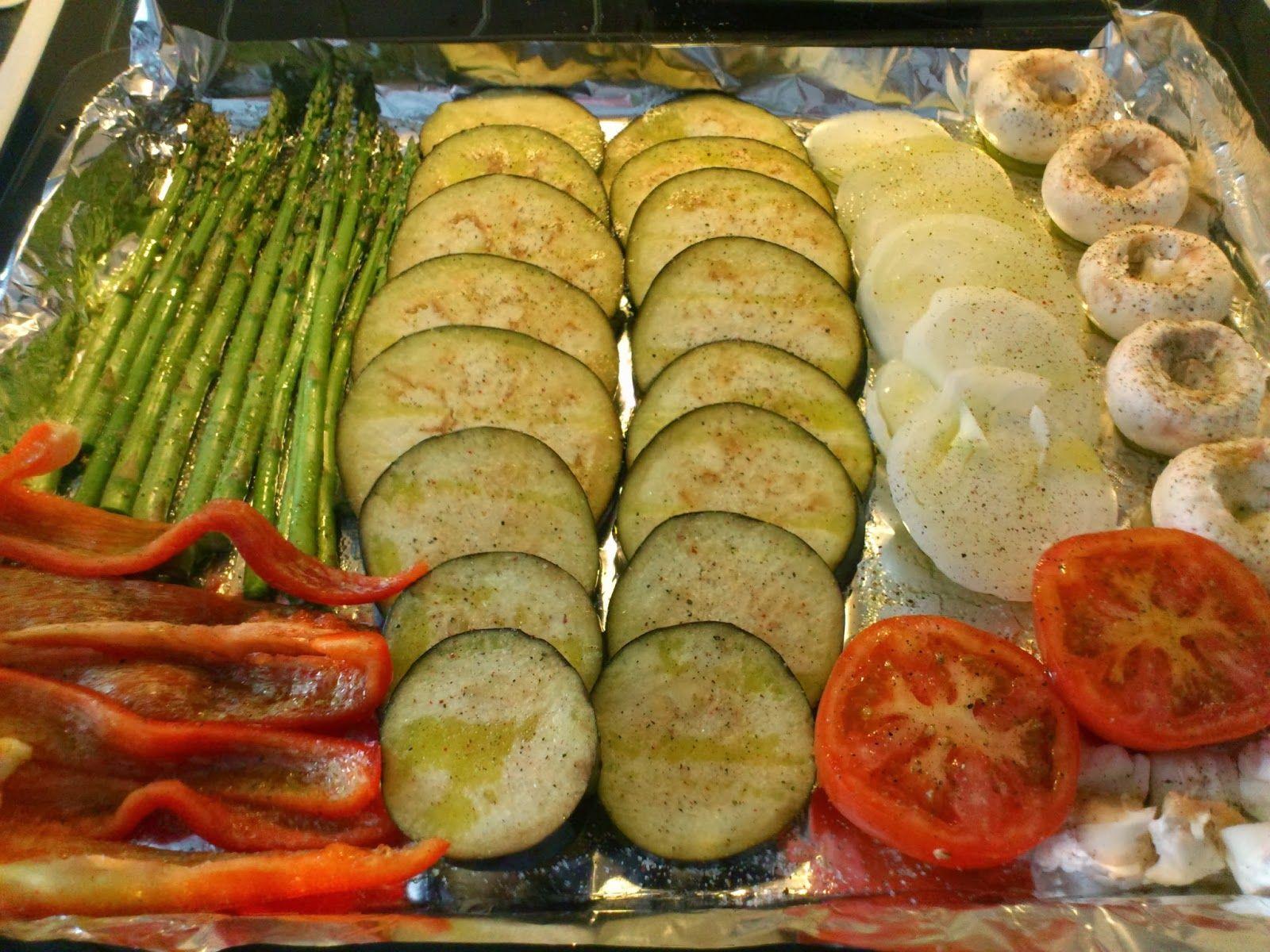 La tentaci n vive arriba parrillada de verduras al horno - Cocinar verduras al horno ...