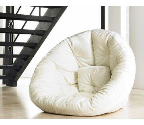 fauteuil pouf futon nest zone de confort pinterest canap pouf pouf et fauteuils. Black Bedroom Furniture Sets. Home Design Ideas