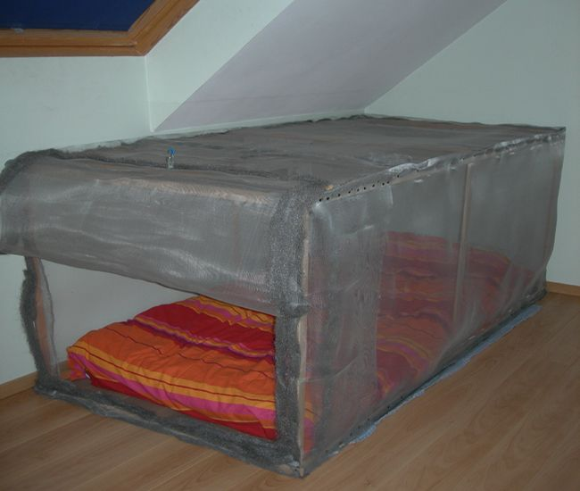 lit cage de faraday anti ondes appareil de mesure pinterest. Black Bedroom Furniture Sets. Home Design Ideas