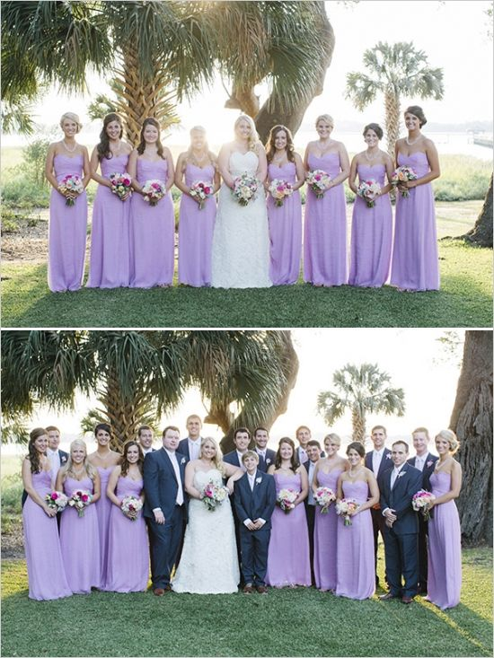 Traditional southern glam wedding navy weddings Navy purple color