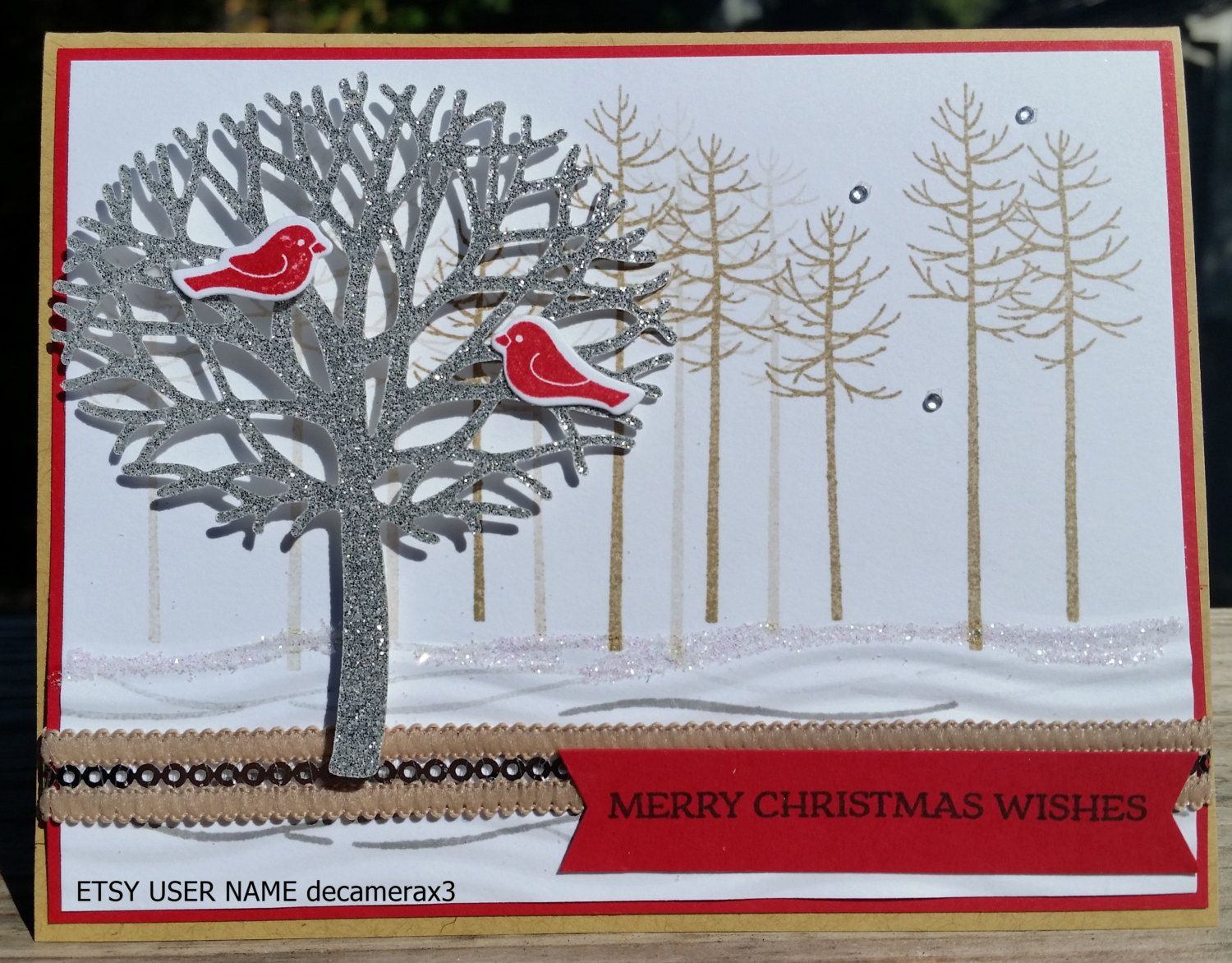 Stampin Up Thoughtful Branches Handmade Christmas Card Kit Set Of