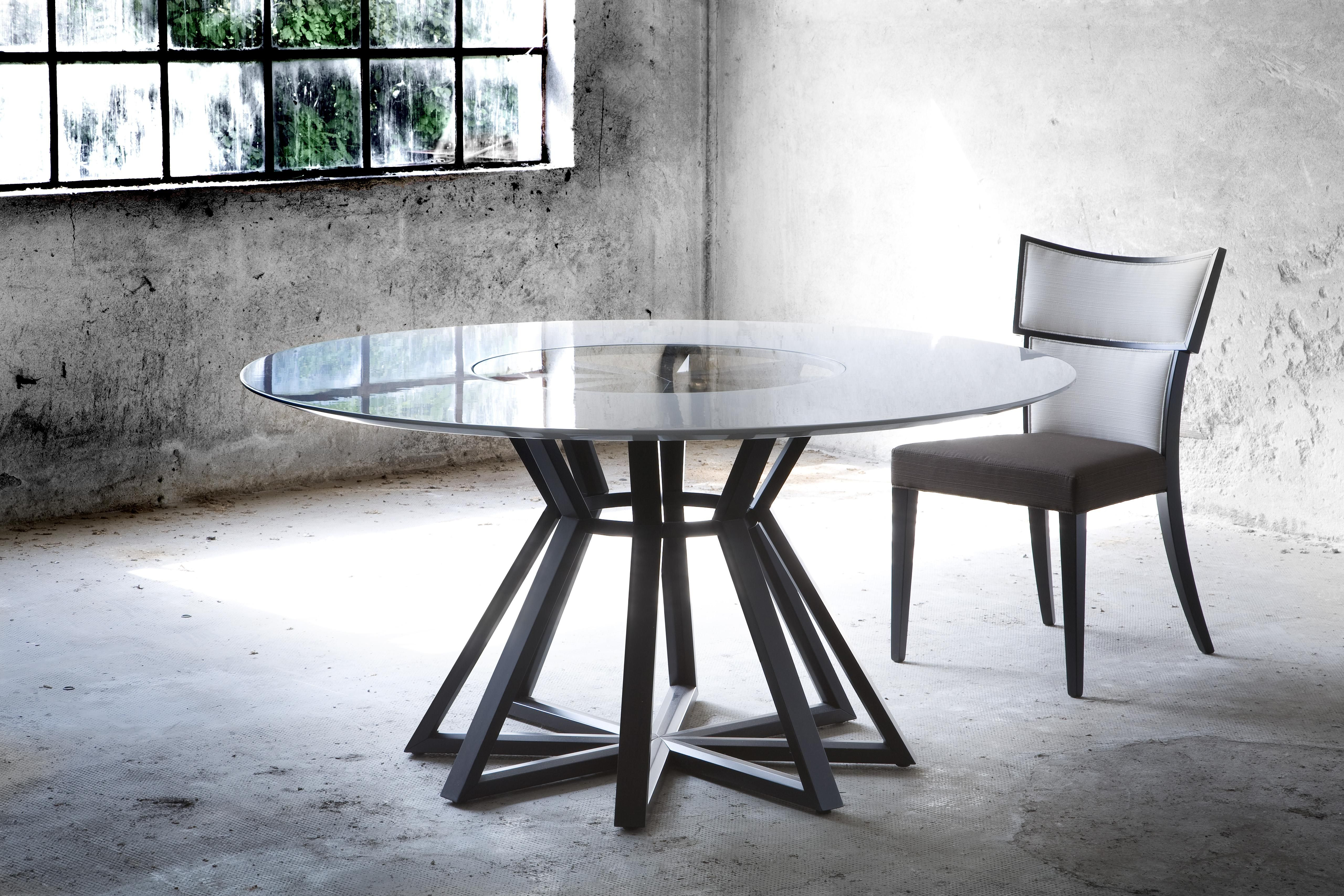 Cliff Young Ltd Crescent Table #Modern #glasstop #Dining # ...