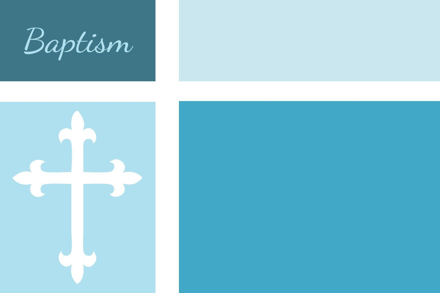 christening invitation layout blank for