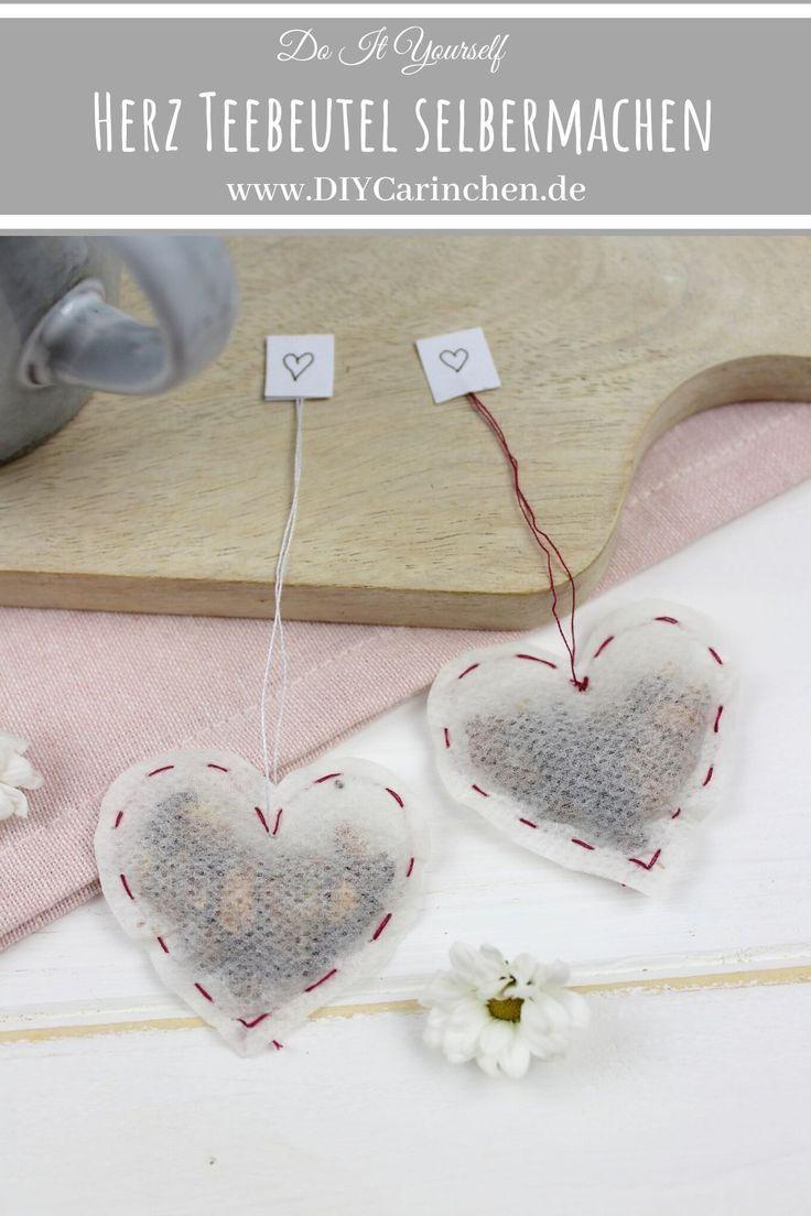 DIY Herz Teebeutel selber machen - perfekt für Valentinstag oder Muttertag