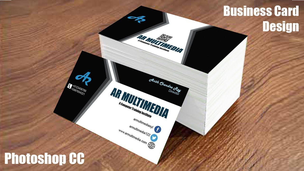 The Outstanding How To Design Business Card In Adobe Photoshop Cc Graphic D Business Card Mock Up Graphic Design Business Card Business Card Template Photoshop