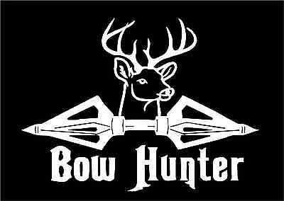 Bow Hunter Decal Archery Buck Arrow Head Points Hunting Car Truck - Bow hunting decals for trucks