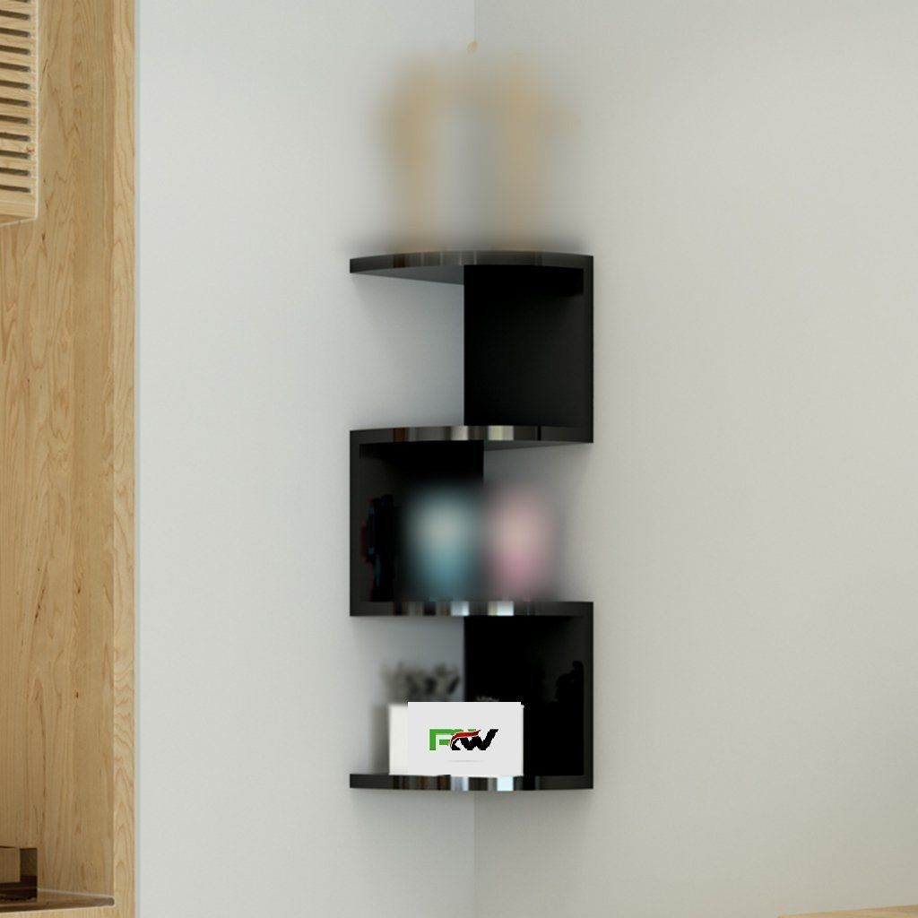 Buy Wood World Home Decor Wall Shelf Zigzag Corner Wall Mount Shelf Online At Low Prices In India On Winsant Free Shipping Wall Shelves Corner Wall Shelves