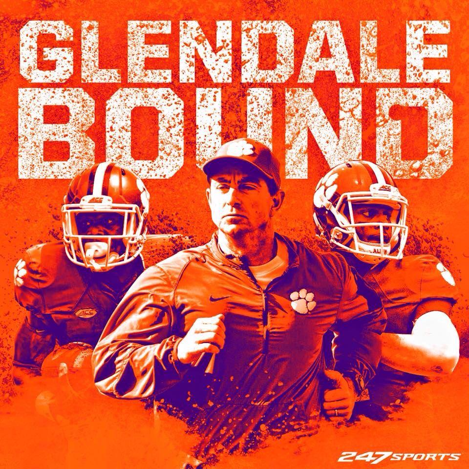 Clemson 2015 GLENDALE BOUND Clemson, Clemson football