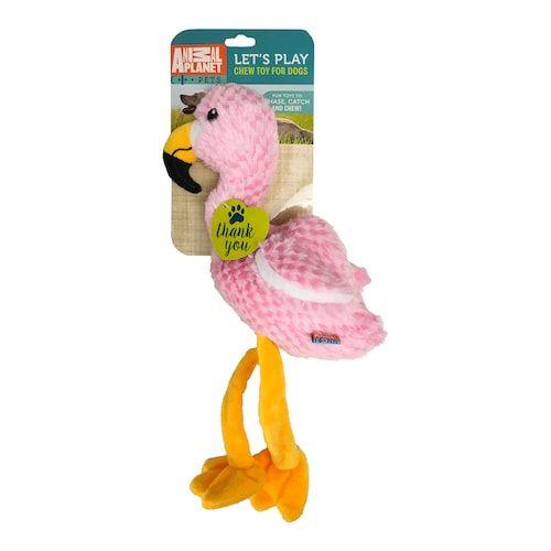 Animal Planet Plush Flamingo Dog Toy Frivolous Flamingos