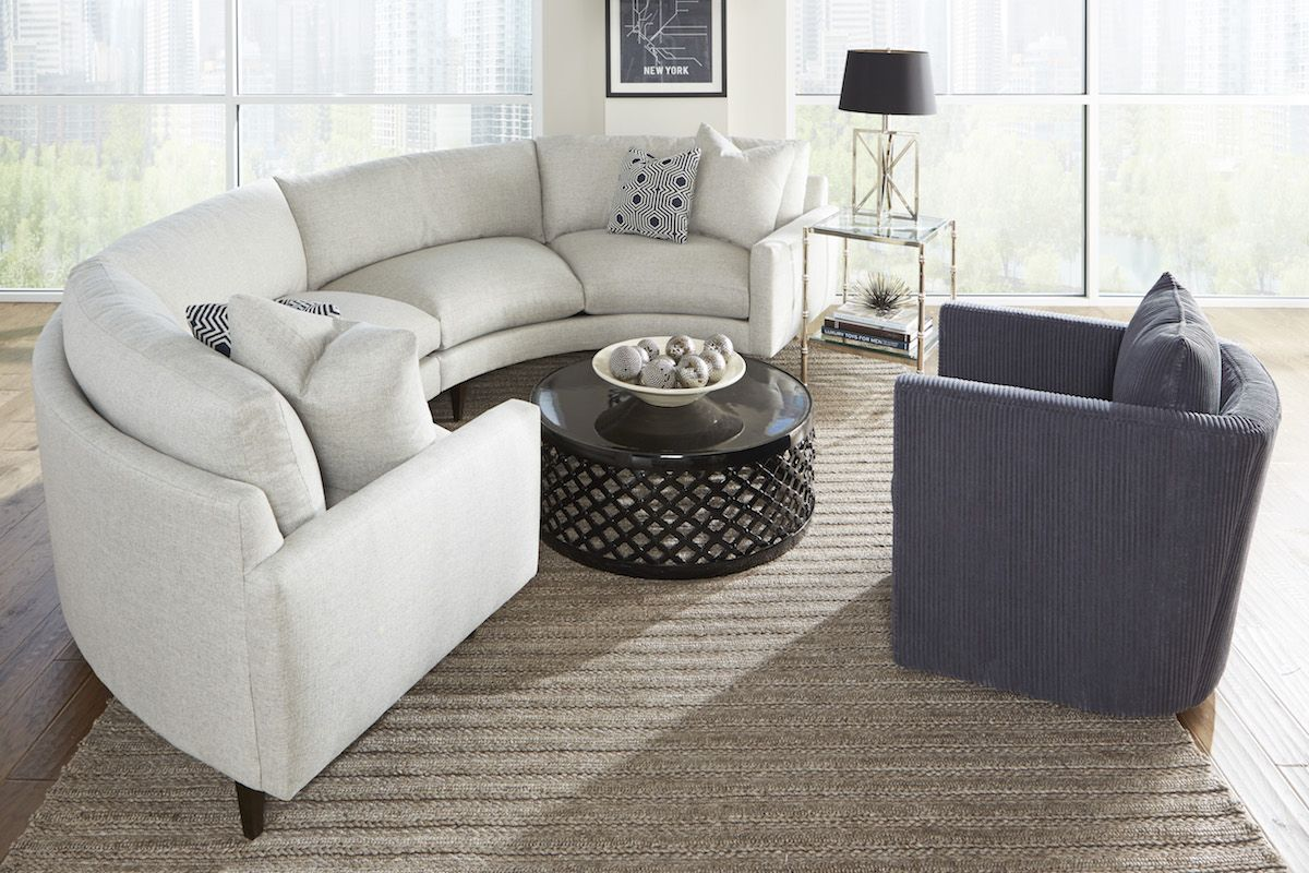 New Curved Oslo Sectional by Rowe Furniture. Unique comfortable yet modern design and can custom : rowe furniture sectional - Sectionals, Sofas & Couches