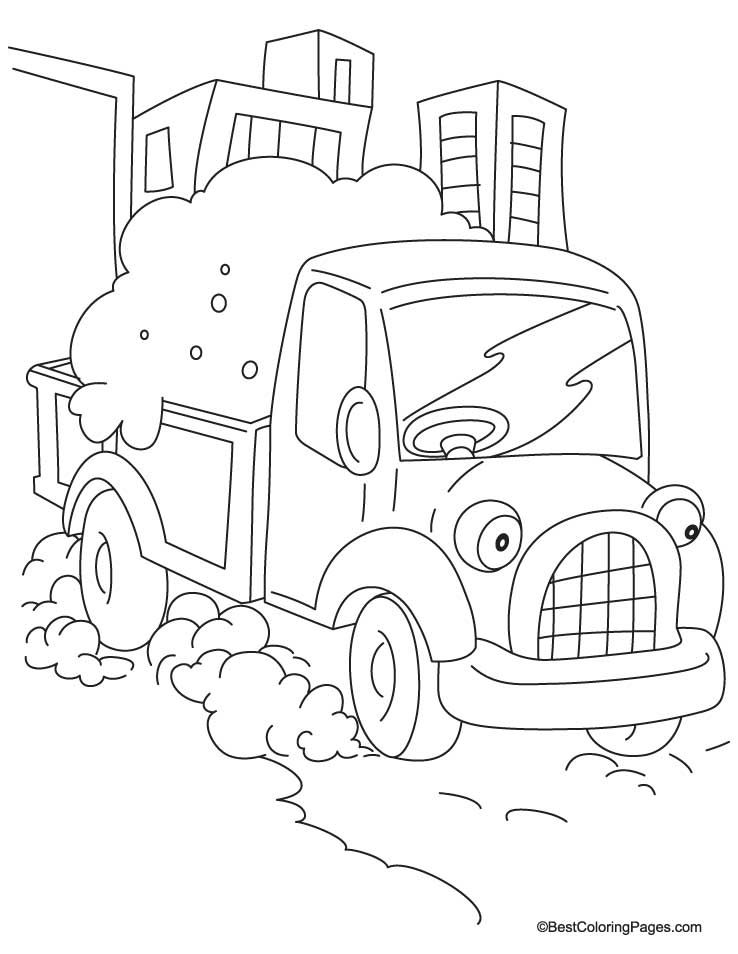 Small truck coloring page | Download Free Small truck coloring page ...