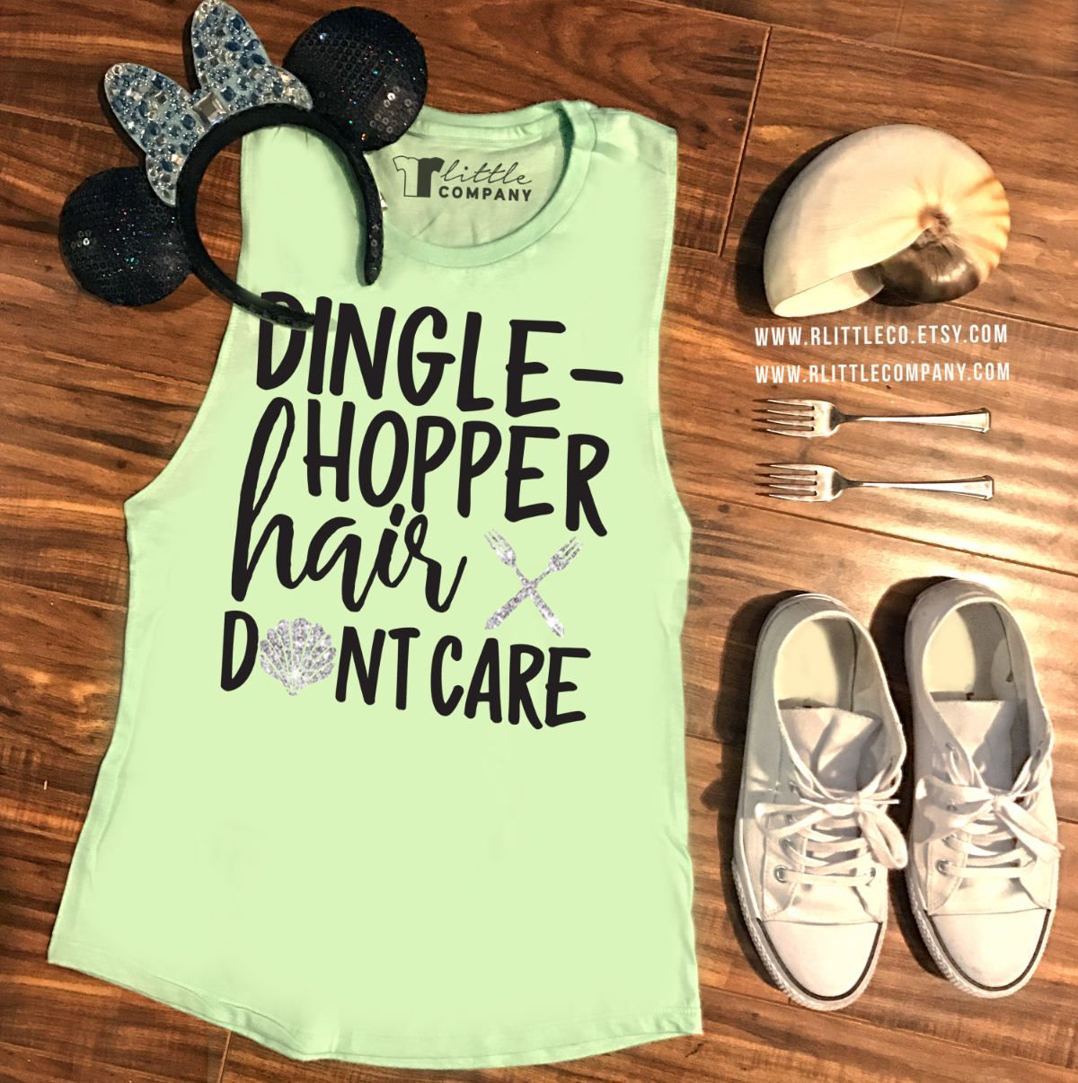 Dinglehopper Hair Don't Care Women's Tank XS-4X // Disneyland Tank // Mermaid Tank // Disney world // mermaid hair don't care