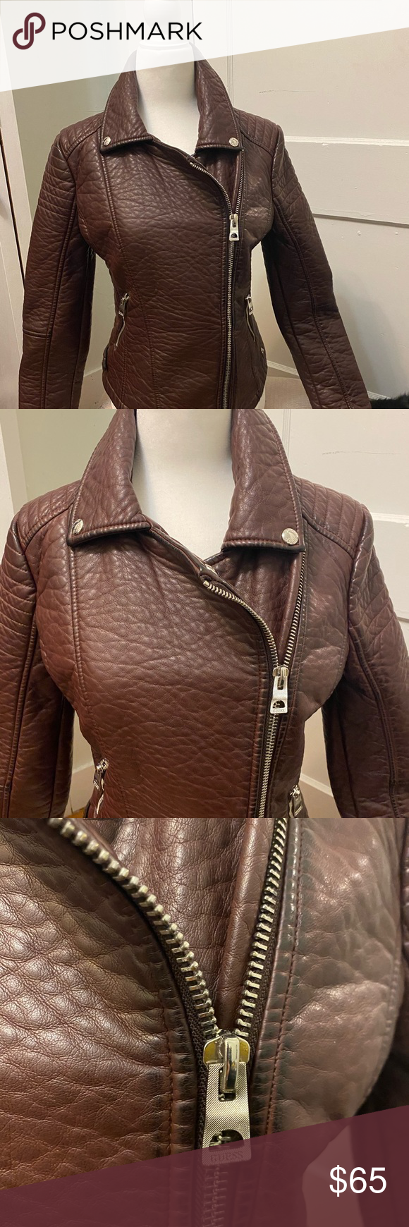 Guess Leather Jacket Clothes Design Fashion Leather Jacket [ 1740 x 580 Pixel ]