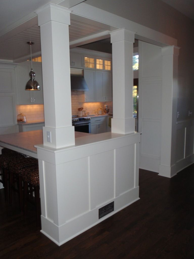 Pin By Alicia Wehby On Home Design Inspiration And Ideas Kitchen Columns Half Walls Kitchen Remodel Small #pillar #in #living #room