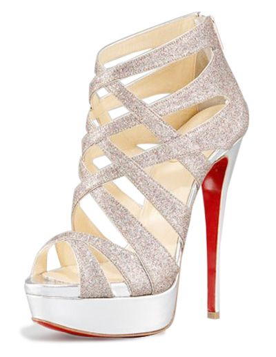 90fc09a12a If you like a high heel, a platform and lots of straps, this strappy ...